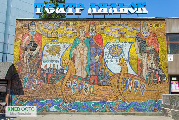 Мозаїка «Кий, Щек, Хорив і сестра їх Либідь»