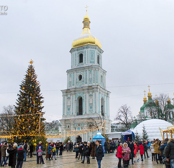 Головна новорічна ялинка в Києві 2016. Новий рік на Софії
