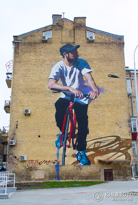 Мурал «Велосипедист» («Червоний велосипед»)