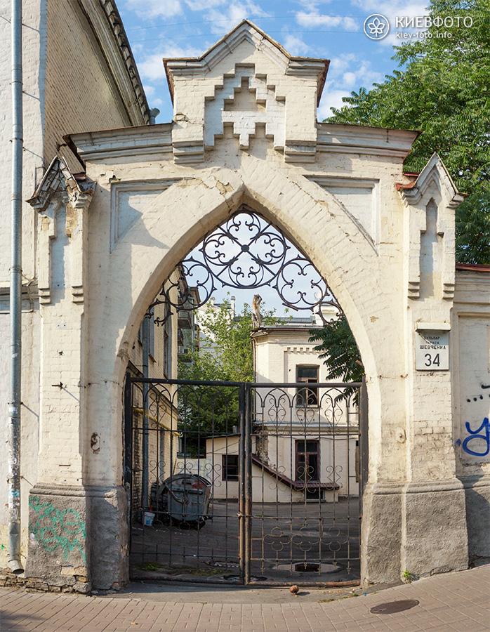 Шевченко 34. Садиба Терещенка. 1874 р. Брама