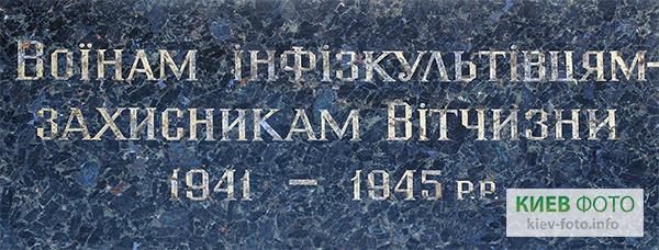 Пам'ятник Загиблим співробітникам і студентам Інституту фізкультури