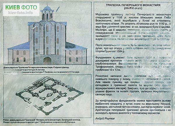Фундамент Давньоруської Трапезної Печерського монастиря