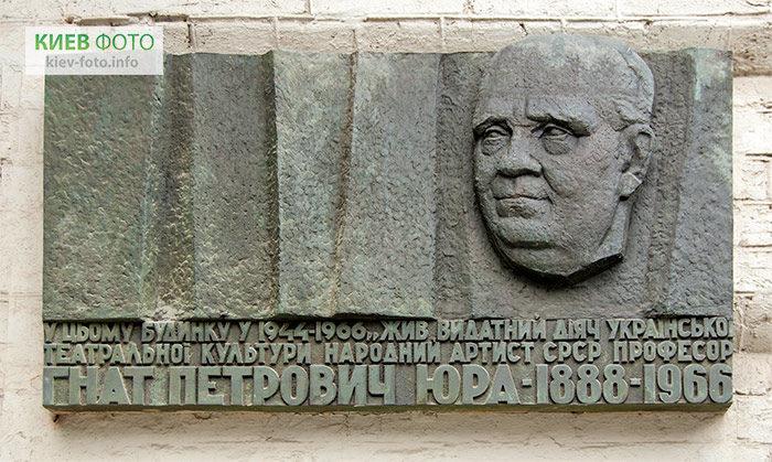 Меморіальна дошка Гнату Юрі