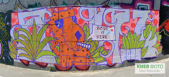 Стіна з графіті під Гаванським мостом