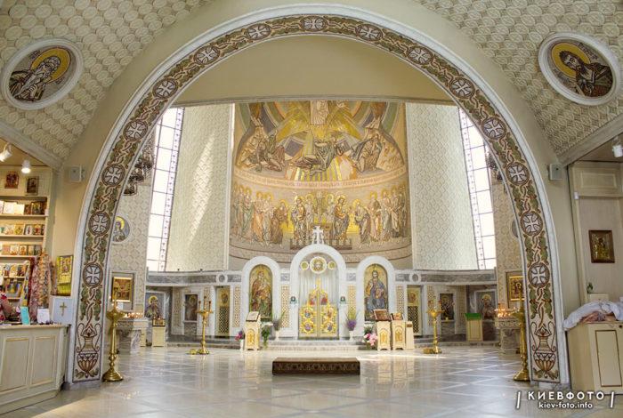 Мозаїка Преображенського собору на Теремках. інтер'єр