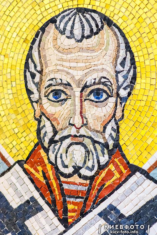 Мозаїка Преображенського собору на Теремках. Святий Миколай